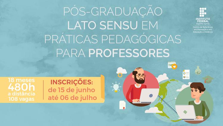 Curso de Pós-Graduação em Práticas Pedagógicas abre inscrições