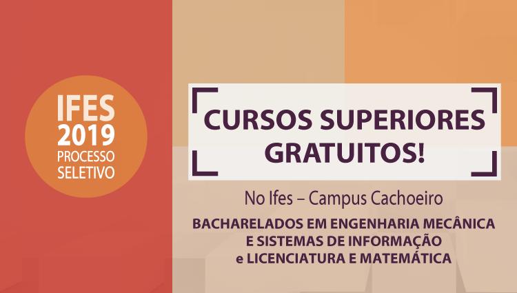Cursos superiores do campus Cachoeiro ofertam vagas por meio do Sisu