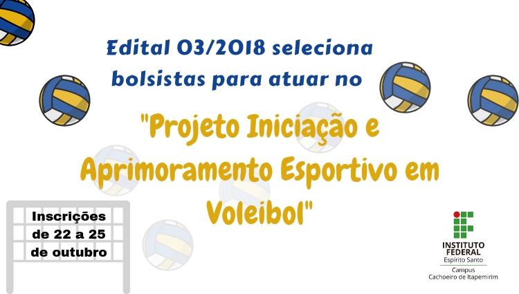Campus Cachoeiro oferta 2 bolsas para o Projeto Iniciação e Aprimoramento Esportivo em Voleibol