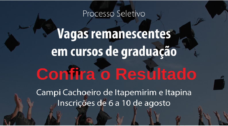 Campus Cachoeiro abre edital para vagas remanescentes para Curso Superior em Engenharia de Minas
