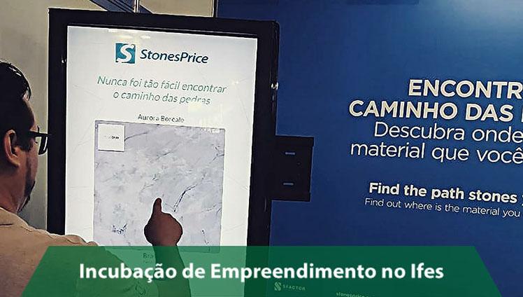 Empresa incubada no Campus Cachoeiro cria plataforma para pesquisa de mercado de pedras ornamentais