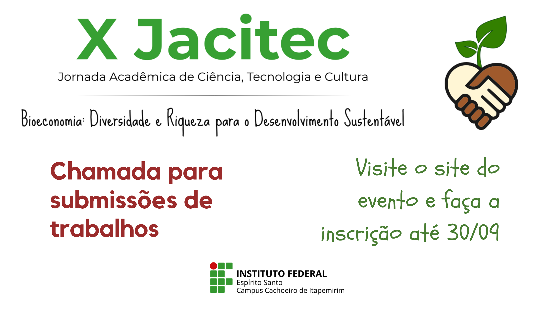 Campus Cachoeiro lança o chamada para submissão de trabalhos para a X Jacitec