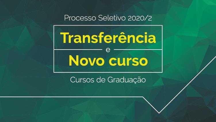 Inscrições abertas para transferência e novo curso